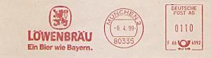 Freistempel F66 4992 München - LÖWENBRÄU - Ein Bier wie Bayern. (#1511)