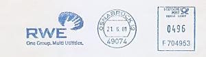 Freistempel F704953 Osnabrück - RWE - One Group. Multi Utilities. (#1521)