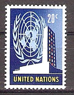 Briefmarke UNO New York Mi.Nr. 158 ** Freimarken 1965 - Motiv: UNO - UNO-Hauptquartier in New York (#10194) 0