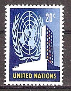 Briefmarke UNO New York Mi.Nr. 158 ** Freimarken 1965 - Motiv: UNO - UNO-Hauptquartier in New York (#10194)