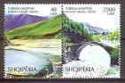 Briefmarke Albanien Mi.Nr. 3590-3591 ** Paar !!! RRR ! Tourismus 2018 - Motiv: Tourismus - Thermalquellen von Bënja, Katiut-Brücke über den Fluss Lengarica (#10199)