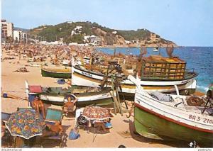 Ansichtskarte Spanien - Lloret de Mar - Playa - Fischerboote am Strand (778)