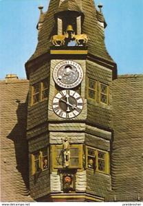 Ansichtskarte Deutschland - Bayern - Ochsenfurt am Main - Kunstuhr am Rathaus (306)