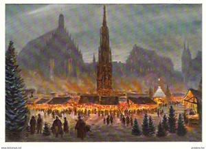Ansichtskarte Deutschland - Bayern - Nürnberg - Christkindlesmarkt (563)
