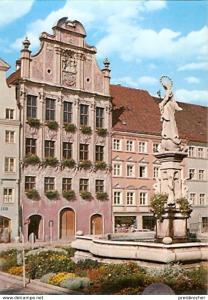 Ansichtskarte Deutschland - Bayern - Landsberg am Lech - Rathaus (1106)