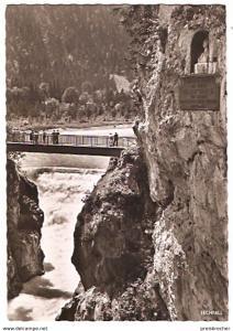 Ansichtskarte Deutschland - Bayern - Füssen - Maxsteg mit Lechfall und Denkmal (1016)