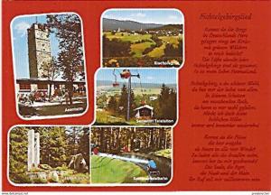 Ansichtskarte Deutschland - Bayern - Fichtelgebirgslied - Asenturm, Bischofsgrün... (267)
