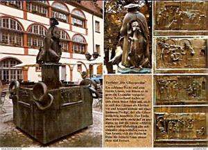 Ansichtskarte Deutschland - Bayern - Regensburg - Gänsepredigt Brunnen (866)