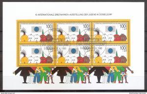 Briefmarke BRD - Bund Mi.Nr. Block 21 o 10. Internationale Briefmarkenausstellung der Jugend Düsseldorf 1990 (201948)
