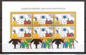 Briefmarke BRD - Bund Mi.Nr. Block 21 o 10. Internationale Briefmarkenausstellung der Jugend Düsseldorf 1990 (201951)