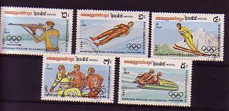 Kambodscha Nr. 517-521° Winter-Olympiade 1984 (013)