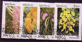 Laos Nr. 1534-1537 ° Orchideen (041)