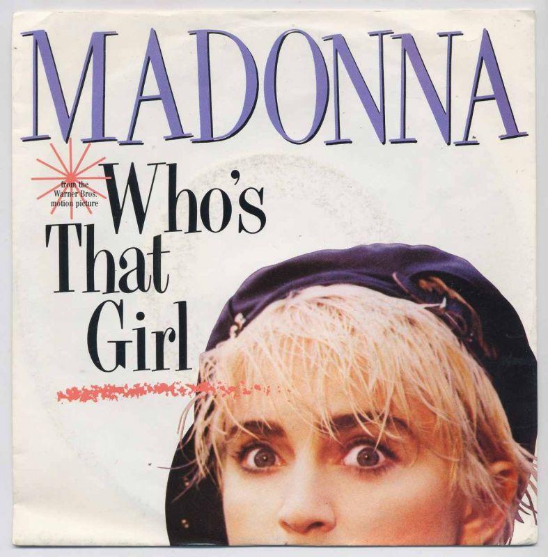 Vinyl-Single: <b><br>Madonna: <br>Who\'s That Girl / White Heat</b> <br>Sire 928 341-7, (P) 1988 <br>EAN 075992834179