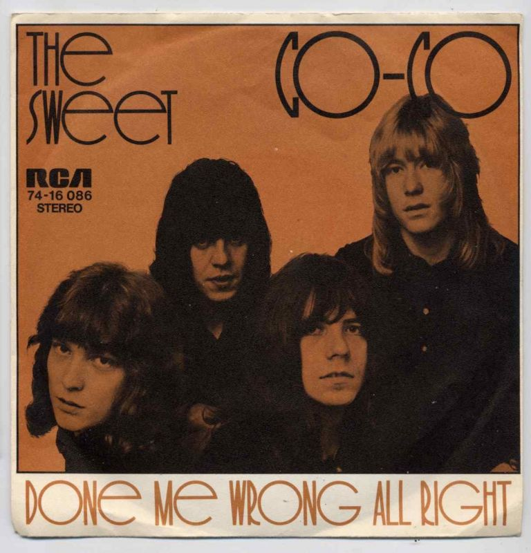 Vinyl-Single: <b><br>The Sweet: <br>Co-Co / Done Me Wrong All Right </b><br>RCA 74-16 086, (P) 1971