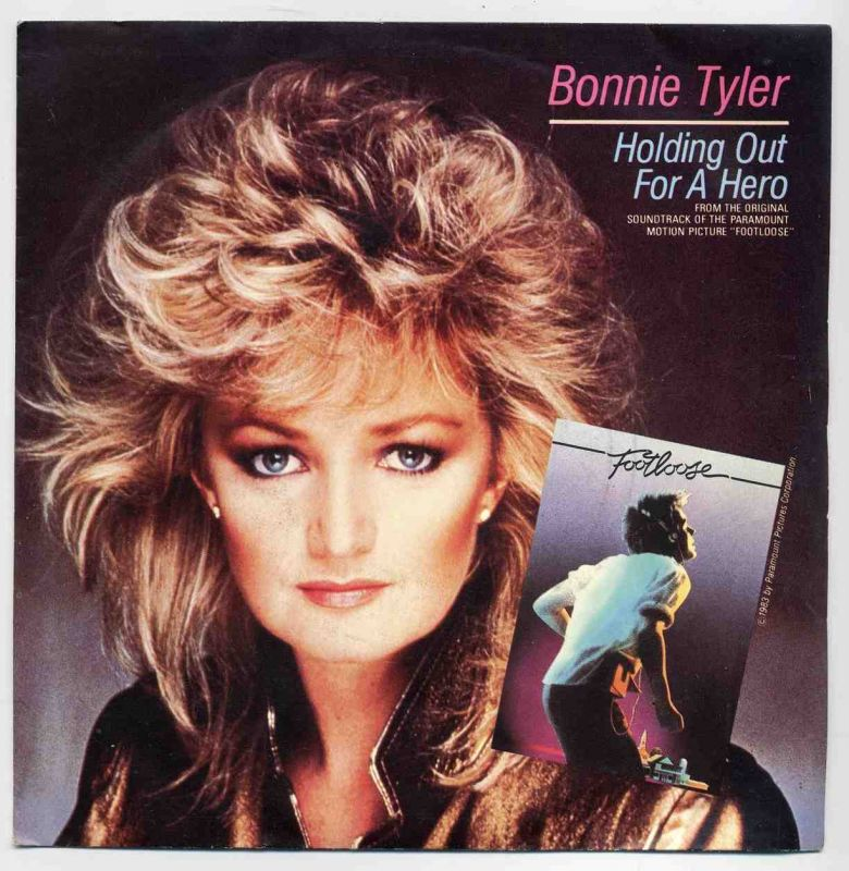 Vinyl-Single: <b><br>Bonnie Tyler: <br>Holding Out For A Hero / Faster Than The Speed Of Night </b><br>CBS A 4251, (P) 1983 <br>From the Original Soundtrack of the Paramount Motion Oicture \
