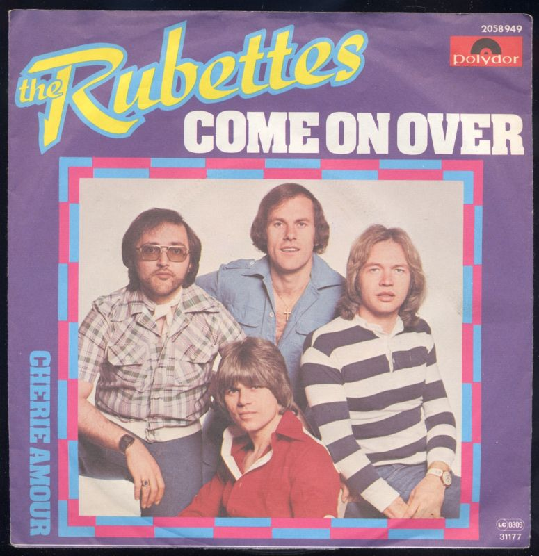 Vinyl-Single: <br><b>The Rubettes: <br>Come On Over / Cherie Amour </b> <br>Polydor 2058 949, (P) 1977