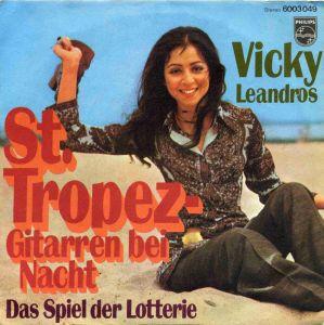 Vinyl-Single: <b><br>Vicky Leandros: <br>St. Tropez - Gitarren bei Nacht / Das Spiel der Lotterie </b><br>Philips 6003 049, (P) 1970