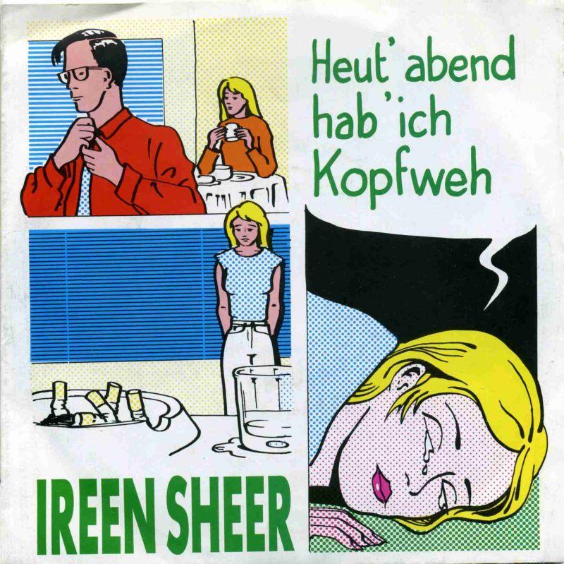 Vinyl-Single: <b><br>Ireen Sheer: <br>Heut\' abend hab\' ich Kopfweh / Tief in mir </b><br>Dino S 9010220, (P) 1991 <br>EAN 4010190102206