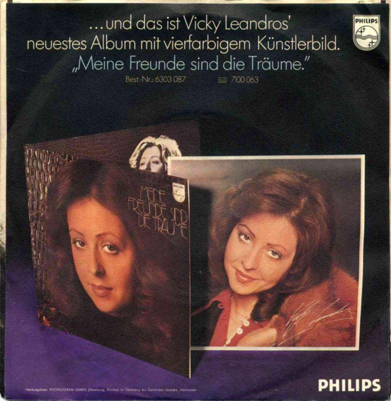 Vinyl-Single: <b><br>Vicky Leandros <br>Theo, wir fahr\'n nach Lodz / Du und ich und der Himmel </b> <br>Philips 6000 143, (P) 1974  1