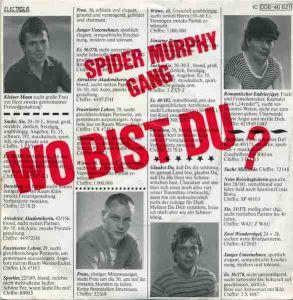 Vinyl-Single: <b><br>Spider Murphy Gang: <br>Wo bist du? / Herzklopfen </b><br>EMI Electrola 1 C 006-46 621, (P) 1981