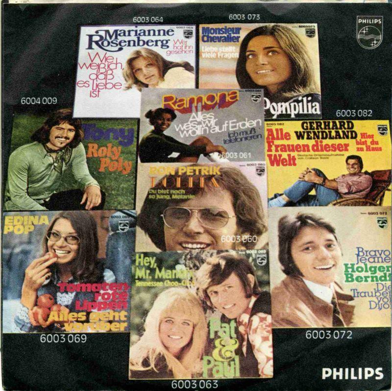 Vicky Leandros <br>Ich bin / Wann kommst du wieder?</b> <br>Philips 6003 089, (P) 1971  1