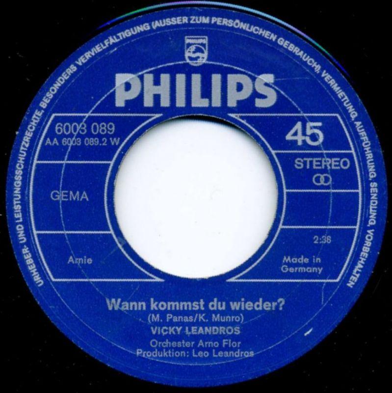 Vicky Leandros <br>Ich bin / Wann kommst du wieder?</b> <br>Philips 6003 089, (P) 1971  3