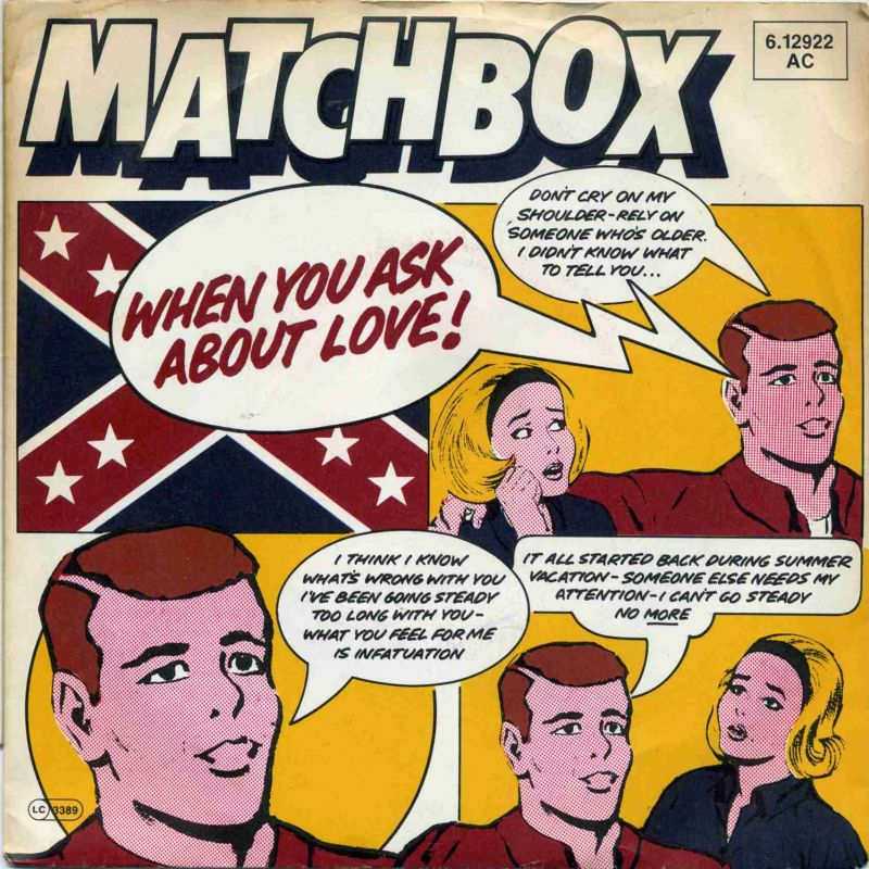 Vinyl-Single: <b><br>Matchbox: <br>When You Ask About Love! / You Made A Fool Of Me </b><br>Magnet 6.12922 AC, (P) 1980