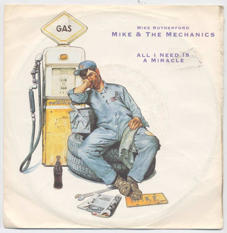 Vinyl-Single: <b><br>Mike + The Mechanics: <br>All I Need Is A Miracle / You Are The One </b><br>WEA 258 765-7, (P) 1985