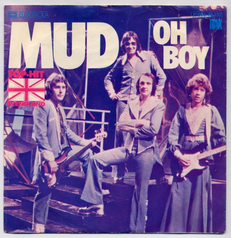 Vinyl-Single: <br><b>MUD: <br>Oh Boy / Watching The Clock</b><br>EMI RAK 1 C 006-96 532, (P) 1975