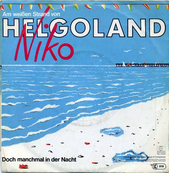 Vinyl-Single: <b><br>Niko: <br>Am weißen Strand von Helgoland / Doch manchmal in der Nacht </b><br>Ariola 105 505-100, (P) 1983