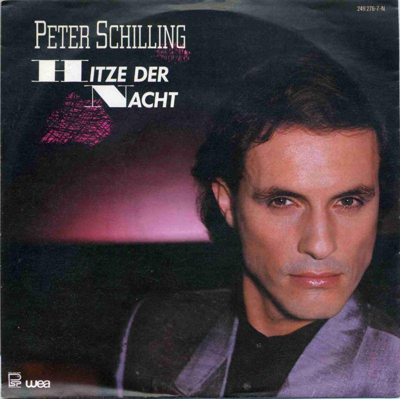 Vinyl-Single: <b><br>Peter Schilling: <br>Hitze der Nacht / 120 Grad </b><br>WEA 249 276-7, (P) 1984