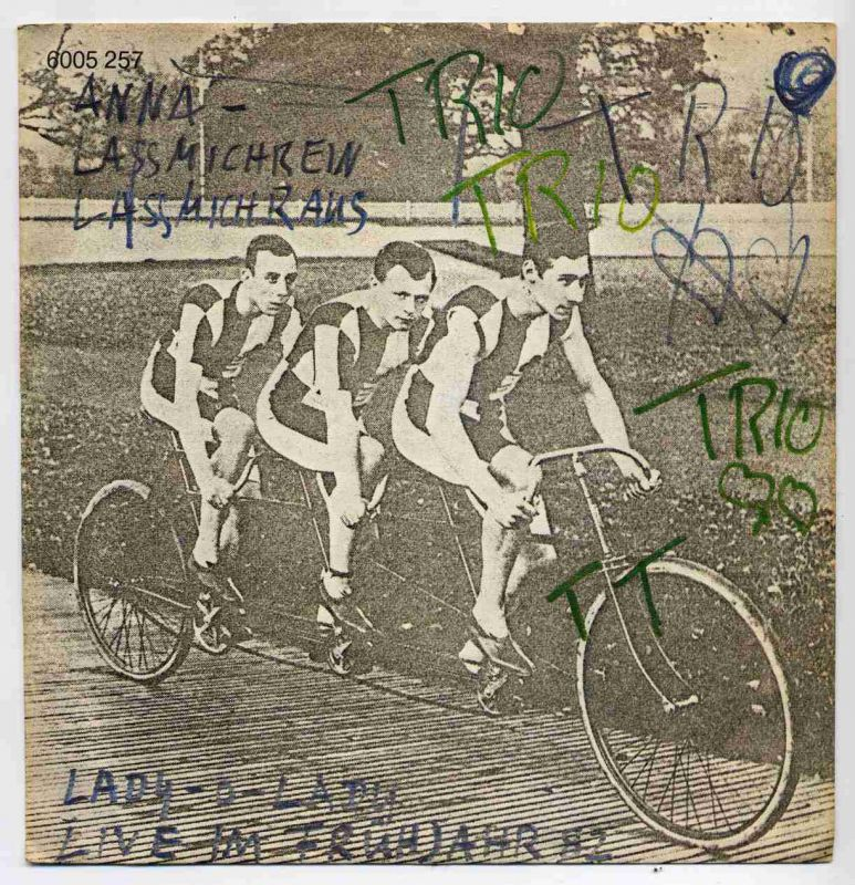 Vinyl-Single: <b><br>Trio: <br>Anna - lass mich rein lass mich raus / Lady-O-Lady (Live im Frühjahr 82) </b><br>Mercury 6005 257, (P) 1982
