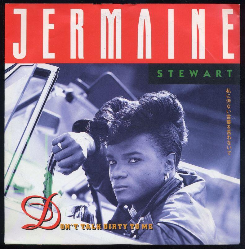 Vinyl-Single: <br><b>Jermaine Stewart: <br>Don\'t Talk Dirty To Me / Places </b><br>Virgin 111 580-100, (P) 1988  0
