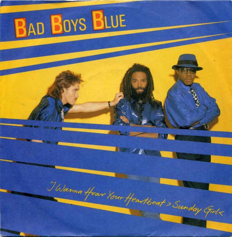 Vinyl-Single: <b><br>Bad Boys Blue: <br>I Wanna Hear Your Heartbeat (Sunday Girl) / I Wanna Hear Your Heartbeat (Instrumental) </b><br>Coconut 108 539, (P) 1986 <br>EAN 4007191085393  0