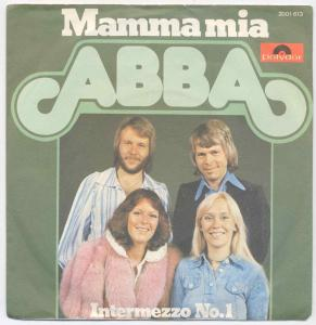 Vinyl-Single: <b><br>ABBA: <br>Mamma Mia / Intermezzo No. 1 </b><br>Polydor 2001 613, (P) 1975
