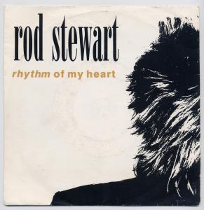 Vinyl-Single: <b><br>Rod Stewart: <br>Rhythm Of My Heart / Moment Of Glory </b><br>Warner Bros. 5439-19374-7, (P) 1991 <br>EAN 053491937476