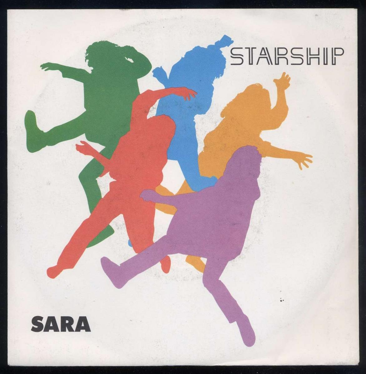 Vinyl-Single <br><b>Starship: <br>Sara / Hearts Of The World (Will Understand) </b><br>Grunt FB49893, (P) 1985 <r>EAN 5012394989378