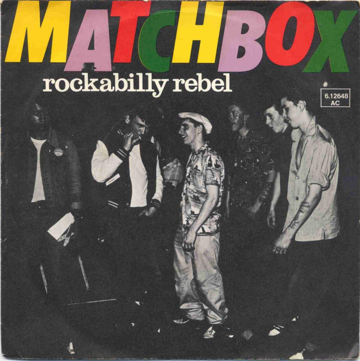 Vinyl-Single: <b><br>Matchbox: <br>Rockabilly Rebel / I Don\'t Wanna Boogie Alone </b><br>Magnet 6.12648 AC, (P) 1979