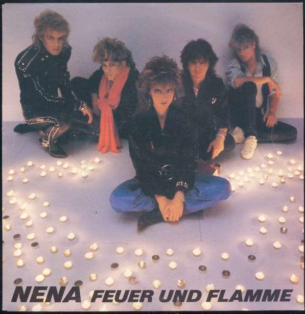 >Vinyl-Single: <b><br>Nena: <br>Feuer und Flamme / Woman On Fire </b><br>CBS A 6266, (P) 1985