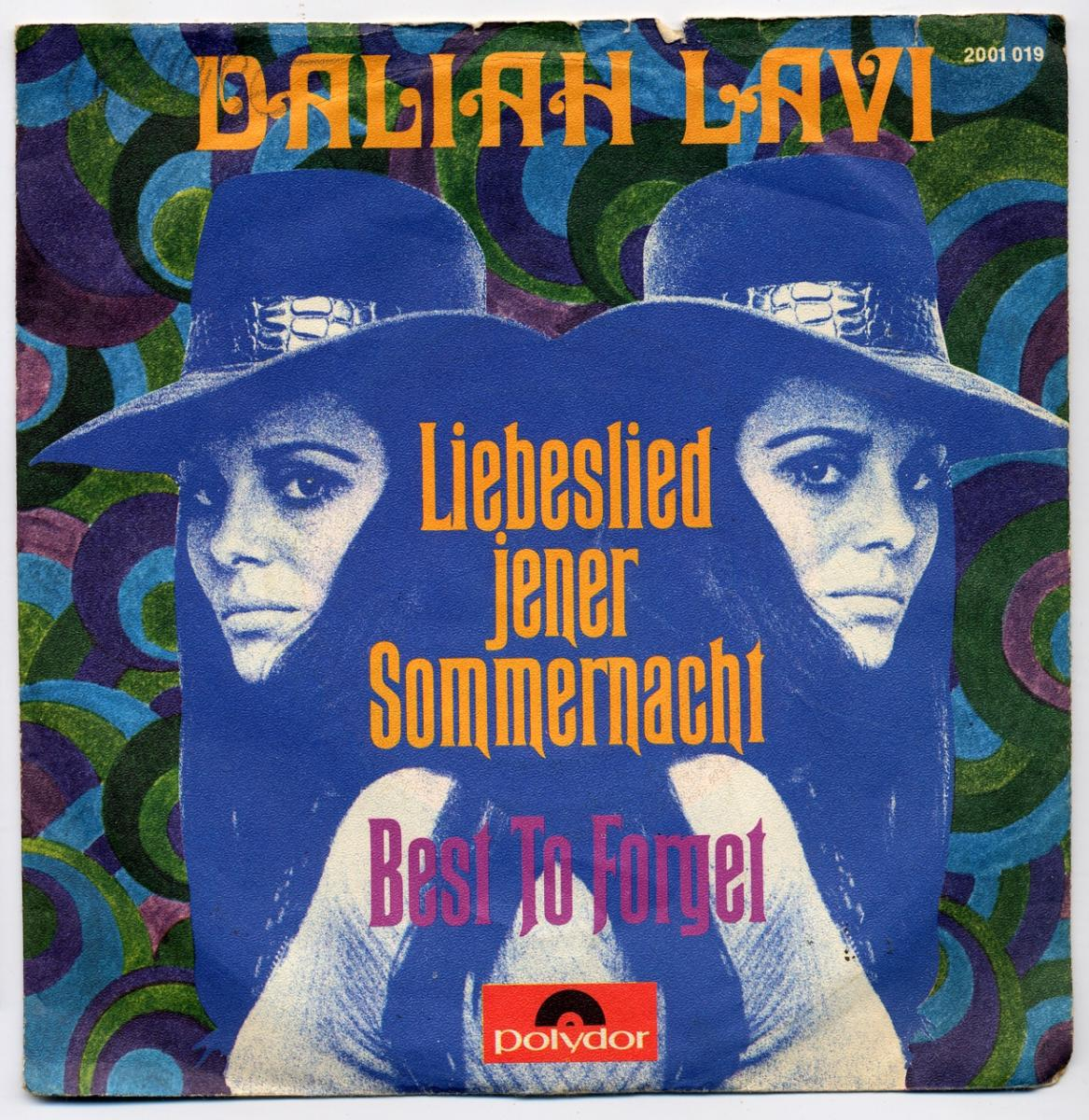 Vinyl-Single: <b><br>Daliah Lavi: <br>Liebeslied jener Sommernacht / Best To Forget </b><br>Polydor 2001 019, (P) 1970