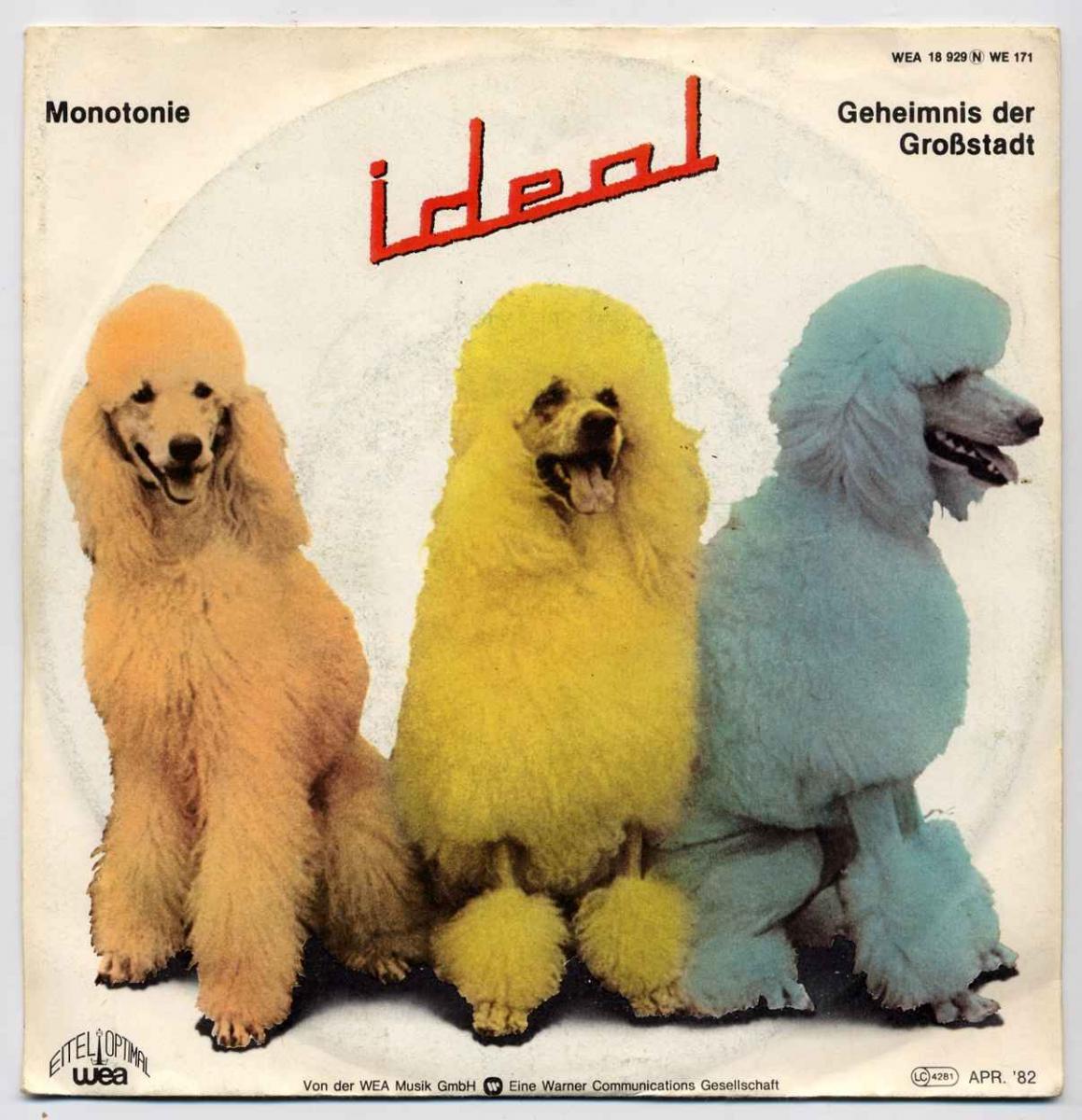 Vinyl-Single: <b><br>Ideal: <br>Monotonie / Geheimnis der Grosstadt </b><br>WEA 18 929, (P) 1982
