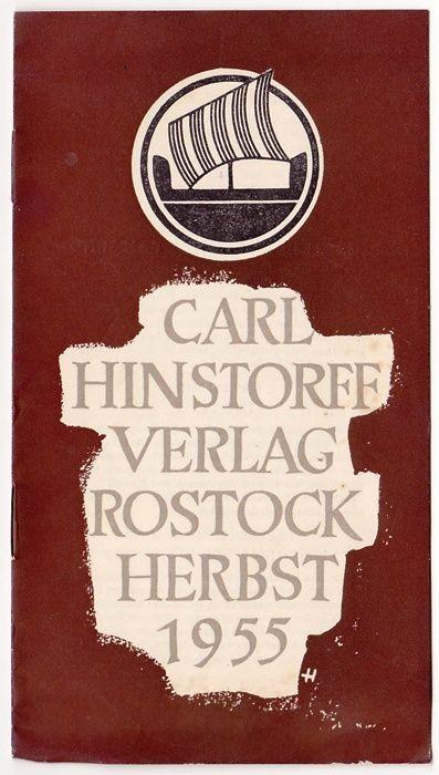 Verzeichnis neuer Bücher Herbst 1955 - Hinstorff Verlag  0