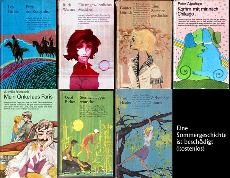 6 Illustrierte Jugendbücher der DDR