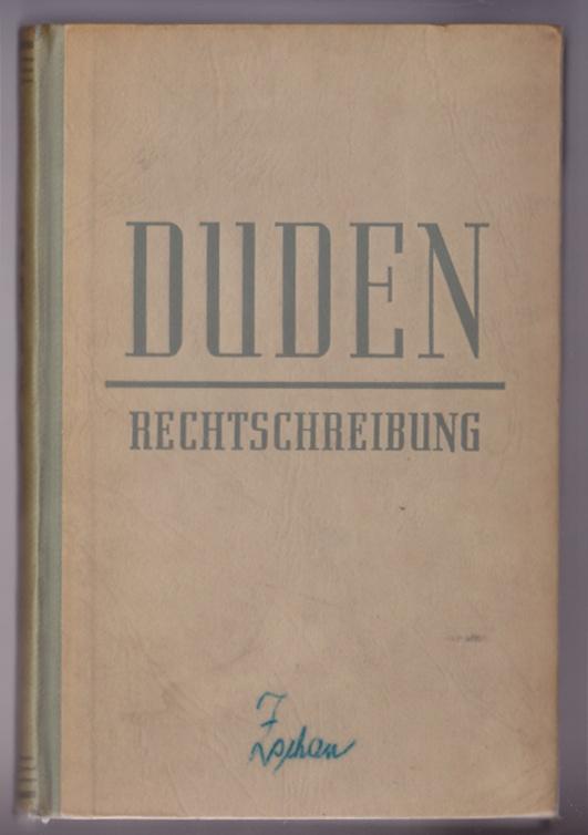Duden - Rechtschreibung, 1954