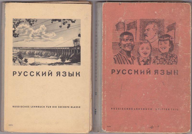 2 alte Russischbücher, 1952 + 1953