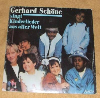 LP Gerhard Schöne - singt Kinderlieder aus aller Welt, AMIGA