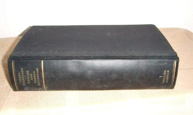 Englisch-Deutsch Wörterbuch - James/ Wildhagen, 1938
