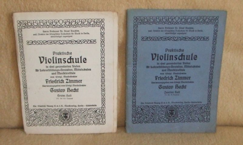 Praktische Violinschule von Friedrich Zimmer, 1910