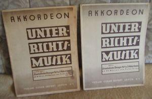 Akkordeon Unterrichtsmusik Heft I + II v. Peter Fries, 1935