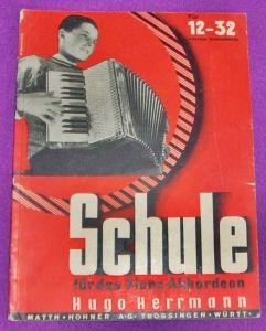 Schule für das Piano-Akkordeon von Hugo Herrmann